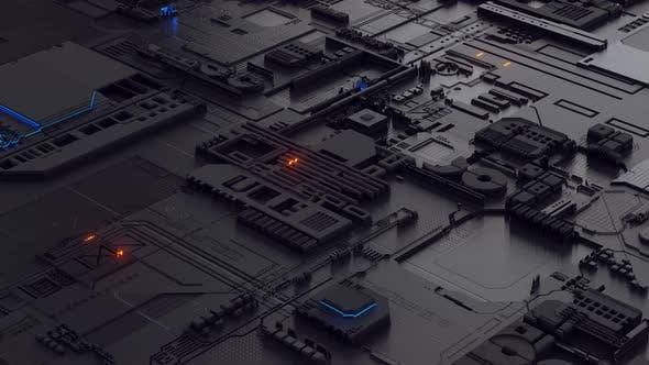 Hightech-Hintergrund - 4K