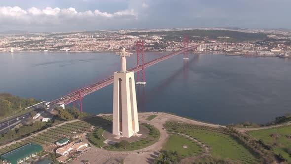 Thumbnail for Aerial of Lisbon landmarks