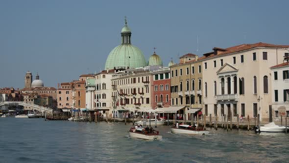 Water taxi in Venice Italy