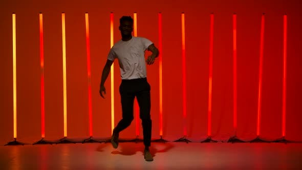 Salsa Dance Performed By a Young Black Man