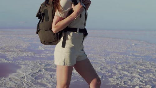Woman Tourist in Nature