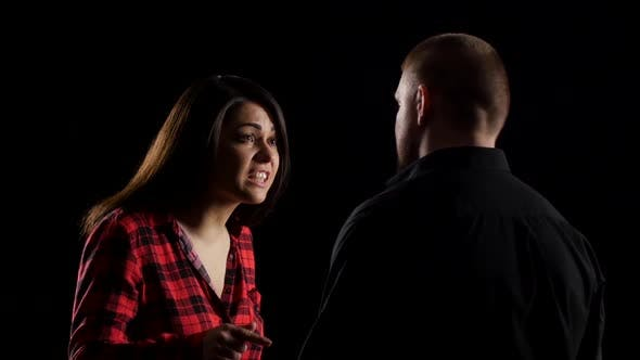 Thumbnail for Woman During an Argument Does Slap Her Man. Black