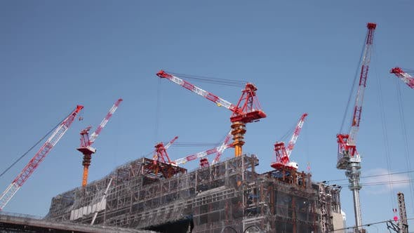 Thumbnail for Construction Cranes Time Lapse
