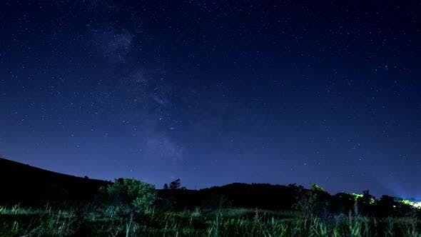 Thumbnail for 4 K Milky Way and Stars Timelapse Over Mountain Background