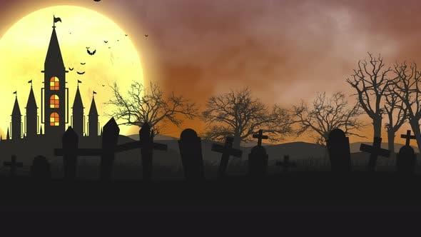 Halloween-Nachtschloß 4 K