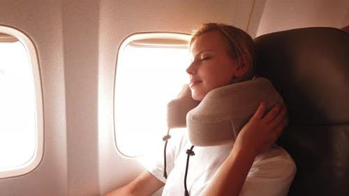 Comfy with a Neck Pillow