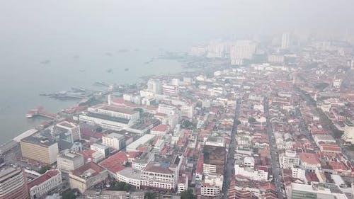 Aerial view Georgetown Heritage city