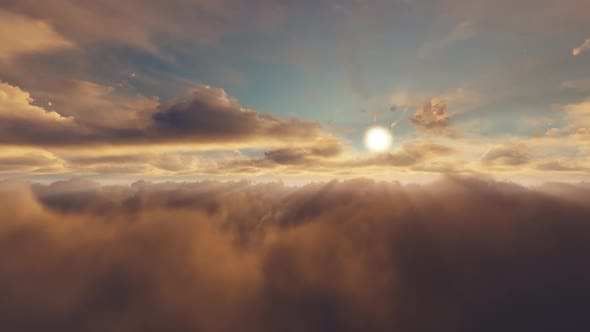 Volume Clouds Sunset