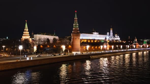 Thumbnail for Night Hyper Lapse of Moscow Kremlin