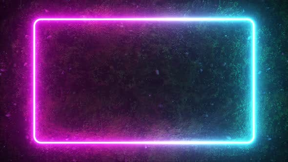 Thumbnail for Rectangular Neon Shimmering Luminous Form
