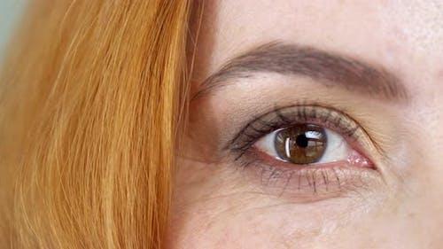 Woman's Brown Eyes