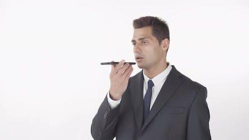 Handsome Businessman Using Smartphone