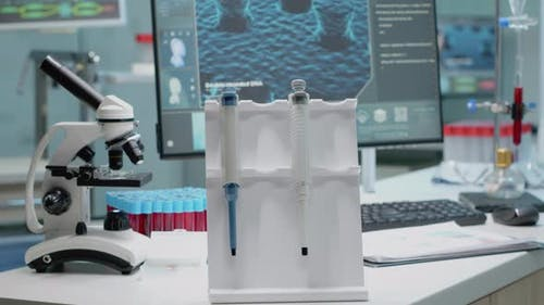 Close Up of Chemistry Pipette in Research Laboratory