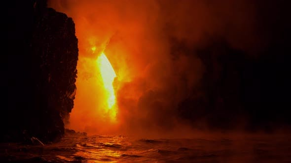 Thumbnail for Lava Flows Into The Ocean