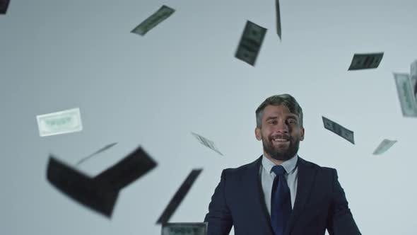 Thumbnail for Happy Businessman Throwing Money in Air