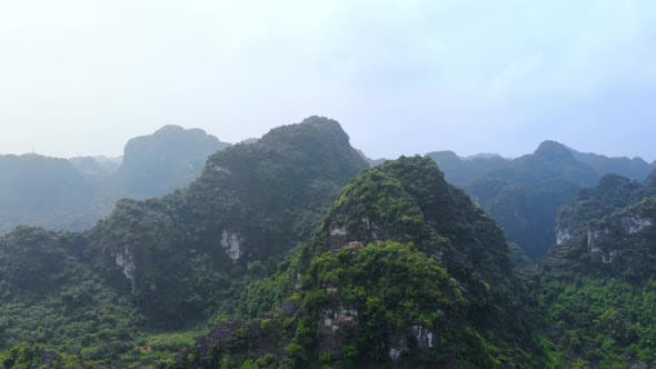 Thumbnail for Aerial view of Ninh Binh region Tam Coc valley, Vietnam, travel destination.