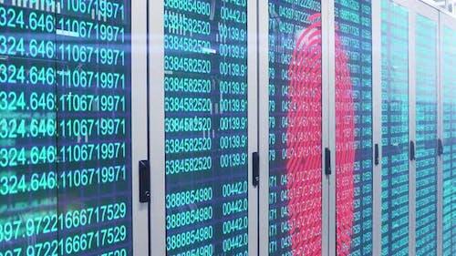 Fingerprint scanner and data processing over server room