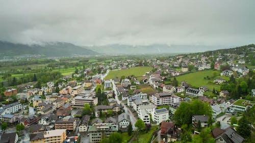Raining Day in Vaduz, Liechtenstein