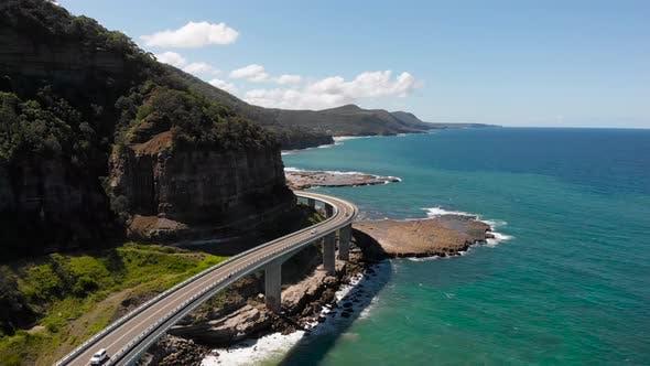 Thumbnail for Luftbild Schöne Szene mit einem estokad, Rock und Ozean