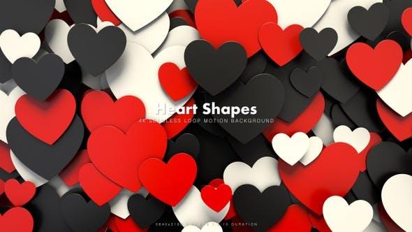 Thumbnail for Hearts Shapes Motion 35