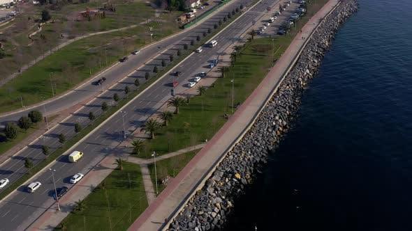 Thumbnail for Sea Coast And Way Aerial View 2