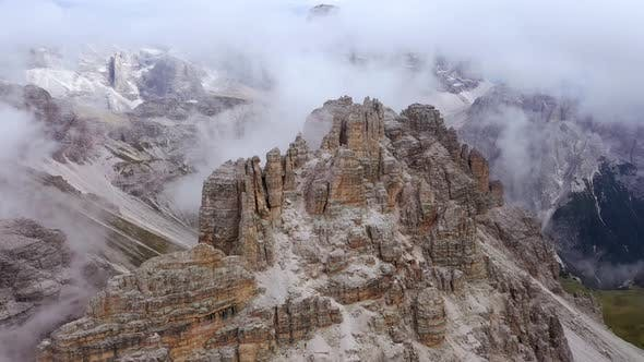 Thumbnail for Fly Over Famous Italian Park Tre Cime Di Lavaredo