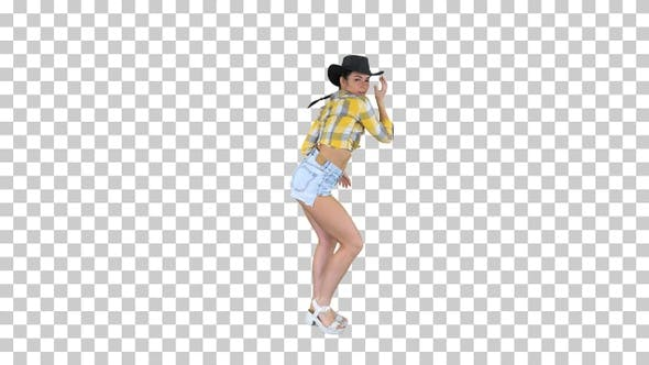Thumbnail for Young Cowgirl Dancing, Alpha Channel