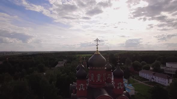 Thumbnail for Flying Over Holy Cross Monastery and Ascension Cathedral in Lukino, Russia