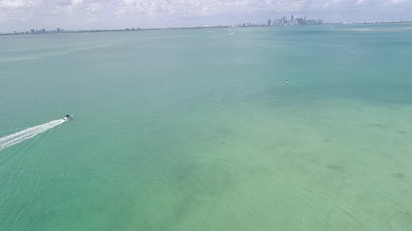 Thumbnail for Boating Aerial Miami Florida Skyline Background