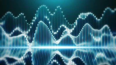 Audio Waveform on Digital Equalizer