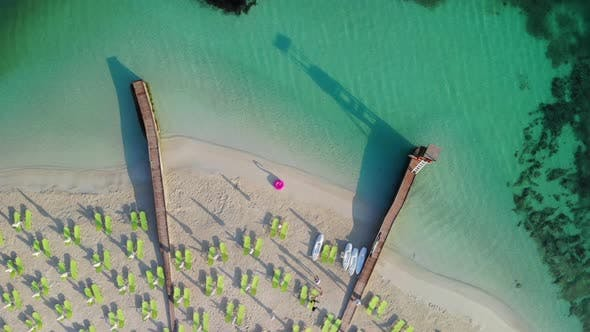 Thumbnail for Top View Down To the Beach Without Tourists