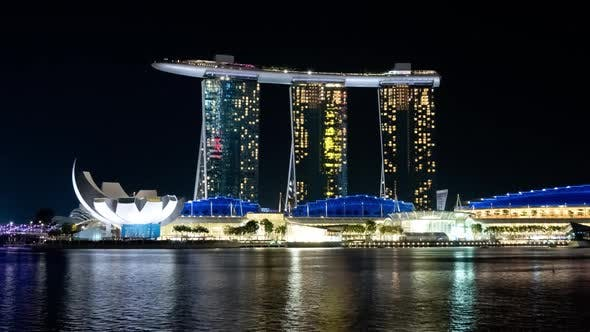 Thumbnail for Singapore Timelapse at Night