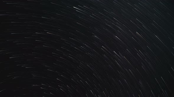 Clear Starry Sky Time Lapse 4k