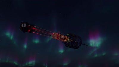 4K - Spaceship and Night