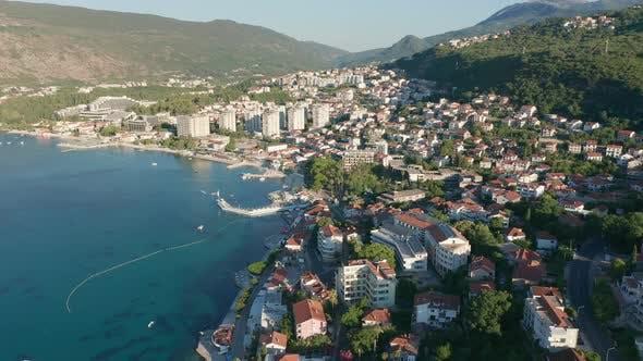 Igalo Montenegro - coastal town in Boka Kotor bay on the Adriatic Sea