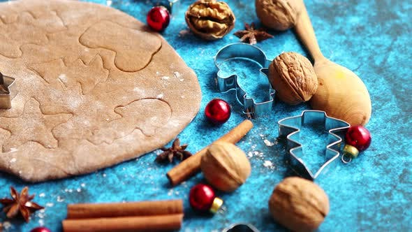 Thumbnail for Gingerbread Dough with Different Cutter Shapes