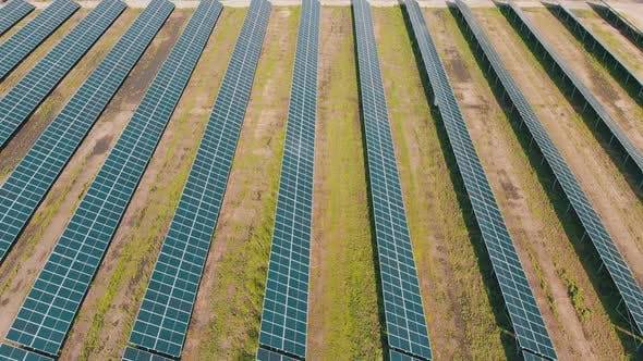 Cover Image for Aerial View of Solar Power Station in Green Field on Sunny Day