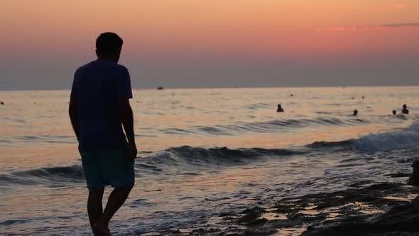 Alone Sad Man