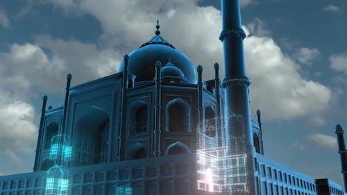 The Abstract Tajmahal Hologram Hd