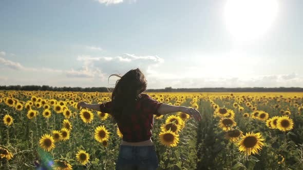 Thumbnail for Charming Woman Enjoying Leisure in Sunflower Field