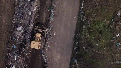 Yellow Tracked Bulldozer