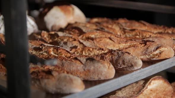 Thumbnail for Frisches Baguette in der Bäckerei