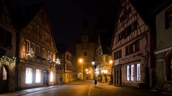 Thumbnail for Night Timelapse of Rothenburg Ob Der Tauber at Christmas