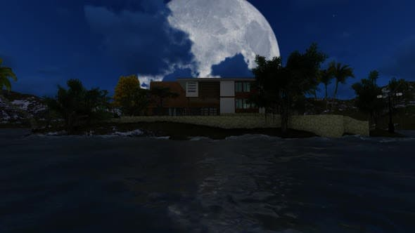 Thumbnail for Moon over the city