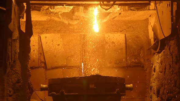 Thumbnail for Blast Furnance at a Metallurgical Plant, Iron and Steel Works