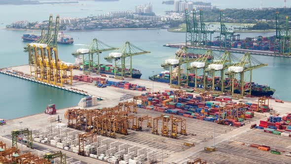 Thumbnail for Day Cityscape Container Port of Singapore
