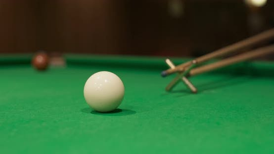 Thumbnail for Close up of Snooker shooting on snooker table
