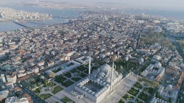 Thumbnail for Istanbul Fatih Mosque And Golden Horn Aerial View