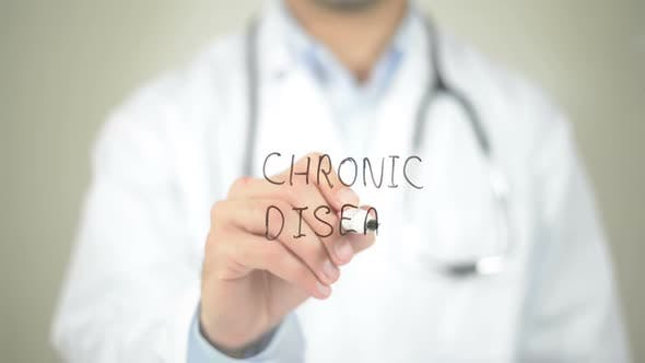Thumbnail for Chronic Disease, Doctor Writing on Transparent Screen