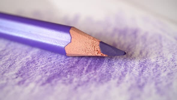 Cover Image for Color Pencil Lies On A Paper Stick